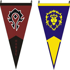 For World Of Warcraft Alliance/Horde Triangle Flags Game Classical Wild Tribe