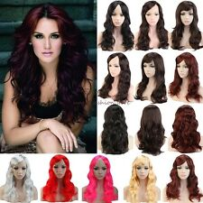 Sexy Lady Long Curly Straight Full Head Wigs Cosplay Party Fancy Dress Thick D83