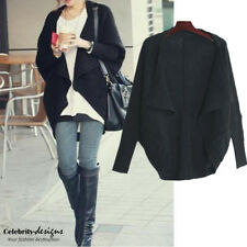 kn43 Celebrity Style Trendy Slouchy Baggy Open Front Batwing Oversized Cardigan