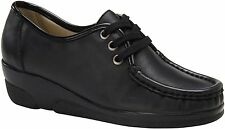 Softspots ANNIE HI 103701 WIDE Womens Black Lace Up Loafers Shoes