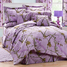 REALTREE AP LAVENDER CAMO CAMOUFLAGE BEDDING -PURPLE COMFORTER SET
