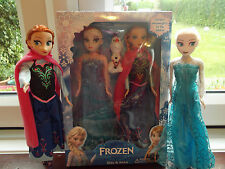 "FROZEN SINGING ANNA & ELSA ,OLAF WITH SOUND 11.5""DOLLS 3PCS GIFT SET."