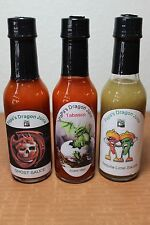 PapaDragonJuice Small Batch Homemade Hot Sauce Ghost Pepper Tabasco Tequila Lime