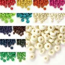800PCS Wholesale New Dyed Wood Rondelle Wooden Beads 3x6mm Free Ship 21 Colors