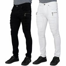 Seven Series New Mens Skinny Fit Stretch Jeans Ripped Distressed Denim Pants