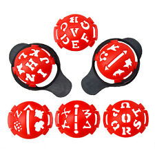 6in1 Golf Ball Line Liner Marker Multi-Template Drawing Alignment Tool Monograms