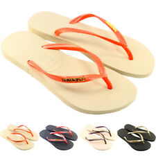 Womens Havaianas Flip Flops Original Box Brazil Slim Logo Ladies Sandals 4-9