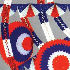 Red/White/Blue Garland Streamers Decorations Bunting - British/French/American