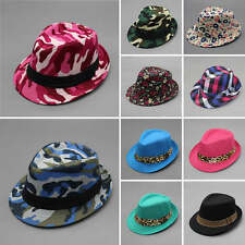 Toddler Kid Baby Girl Boy Fedora Hat Jazz Cap Photography Cotton Trilby Top Cap