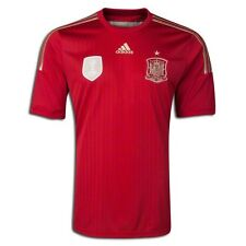ADIDAS SPAIN HOME JERSEY FIFA WORLD CUP BRAZIL 2014 ESPAÑA RED/GOLD.