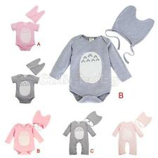 Totoro Cosplay 2PCS Baby Girls Boys Infant Romper Bodysuit Hat Set Kids Clothing