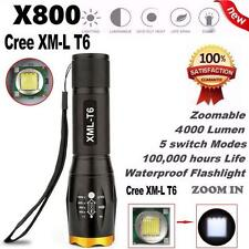 G700 X800 Zoom LED Tactical Military Cree XM-L T9 5 modes Flashlight Torch Lamp
