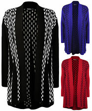 New Plus Size Womens Long Sleeve Flared Top Ladies Open Knitted Cardigan