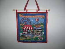 """Wall hangings """"Meet Me At The Fair"""" or """" Merry Go Round"""" applique & quilted"""