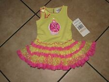Rare Editions Little Girls Birthday Cupcake Tutu Dress Size-2T
