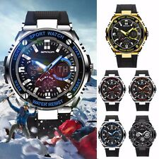 Waterproof Mens LCD Digital Analog Quartz Date Military Alarm Sport Wrist Watch