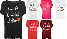 New Plus Size Womens Slogan Heart Print Ladies Short Sleeve T-Shirt Top