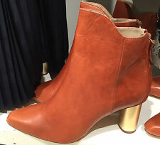 ZARA LAMINATED LEATHER HIGH HEEL ANKLE BOOTS 35-41 REF. 6144/101