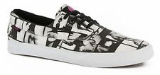 LAKAI CAMBY BLACK WHITE CANVAS MENS CASUAL SKATE SHOES SNEAKERS CLEARANCE