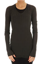 RICK OWENS New Woman Long Sleeve Cotton Sweater T-Shirt RP 8627/CR DRKSHDW