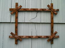 Unusual Antique Victorian Oak Black Forest Adirondack Wood Picture Frame