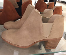 ZARA LEATHER WESTERN ANKLE BOOTS SAND 36-41 REF. 2103/101
