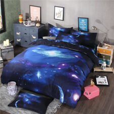 3D Galaxy Duvet Comforter Quilt Cover Set Twin/Full/Queen Size Pillow Cases New