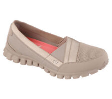 22672 Taupe Skechers Shoes Memory Foam Women's Flex Sporty Casual Slip On Sporty