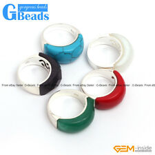 Assorted Stones Tibetan Silver Base Ring 10x22mm Fashion Jewelry Free Shipping