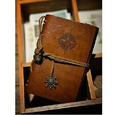 SteamPunk/Vintage-look Leather Cover Notebook Pocketbook Journal Diary small