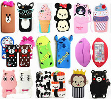 Cartoon Disney Silicone Soft Dropproof Kid's Cover Case For iPhone Samsung LG