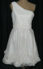 NWT Max and Cleo Ivory One Shoulder Coctail Party Dress