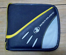 FELLOWES BODY GLOVE 32 DISCS CD DVD STORAGE CARRYING CASE HOLDER Black & Yellow