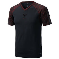 Mens Adidas Messi Training Tee T Shirt Black Climacool UK Sizes S - L NEW