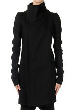RICK OWENS EILEEN Woman Zipped Mixed Wool Coat New with Tags and Original