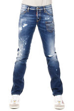 DSQUARED2 Dsquared² New Men Blue Denim Pants Jeans SLIM Made Italy NWT
