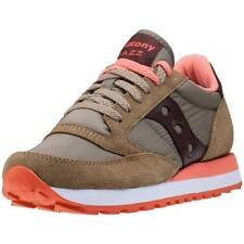 Saucony Jazz Original Womens Trainers Olive Brown New Shoes