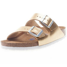 Birkenstock Arizona Metallic Womens Sandals Gold New Shoes