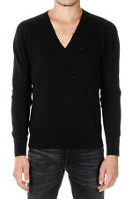 GIVENCHY New Men Black Wool V Neck Sweater Jumper Made in Italy NWT
