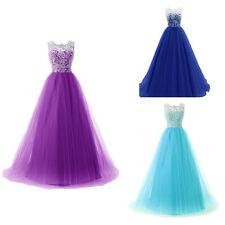Fashion Women Sexy Lace Bridesmaid Dress Prom Evening Wedding Party Gown Dresses