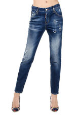 DSQUARED2 Dsquared² Women COOL GIRL Destroyed Stretch Denim Jeans Italy Made