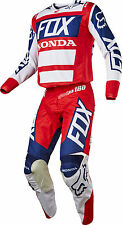 Fox Racing Mens Red/White/Blue 180 Honda Dirt Bike Jersey & Pants Kit Combo ATV