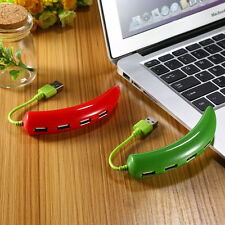 Green / Red USB 2.0 High Speed 4 Port Pepper USB Hub Cable For Laptop Notebook
