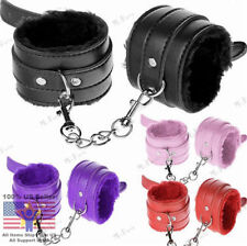 Fetish Bondage Handcuffs Leather Sex Slave Hand Ring Ankle Cuffs Restraint Toy
