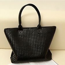 Large Capacity Fashion Women Ladies Handbag PU Leather Tote Shopper Shoulder Bag