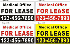 3ftX5ft Custom Medical Office FOR LEASE Banner Sign with Your Phone Number
