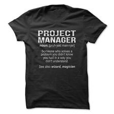 Project Manager Definition - Funny T-Shirt Short Sleeve 100% Cotton NEW