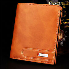 Men's Genuine Leather Business Wallet Credit ID Card Money Holder Case Bifold