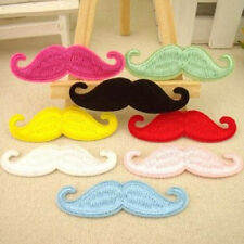 DIY Embroidered Cloth Iron On Patch Sew Motif Applique Beard Hot