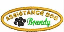 Assistance Dog Patch Service Dog Patch Personalized Patch w Paw Red White Black